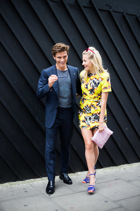 Street Style - Oliver Cheshire & Pixie Lott, London Collections: Men