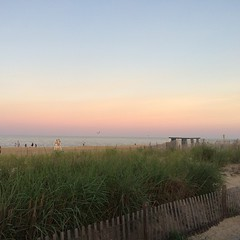 #nofilter east coast beach sunset. Not the same as west coast but still pretty