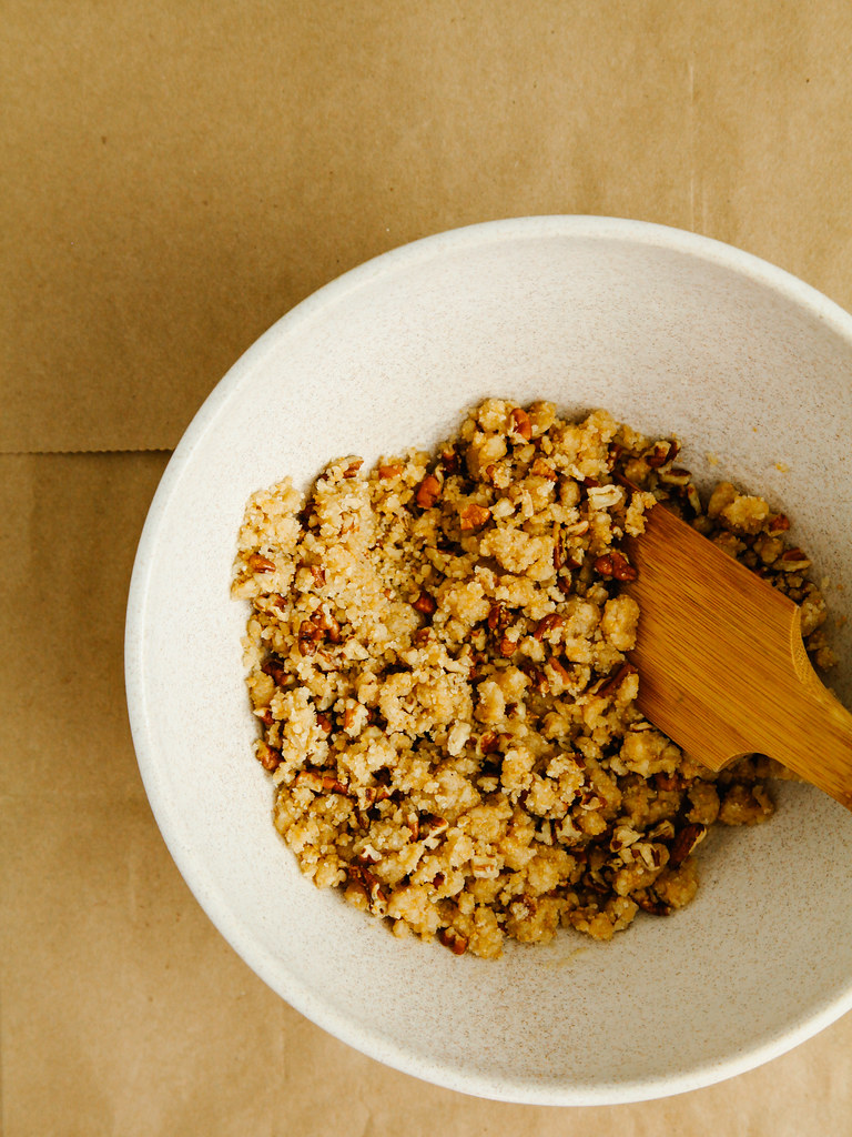 Pecan crumb topping
