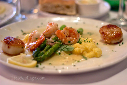 Limoncello Scallops and Prawns at Skates on the Bay (Berkeley CA)
