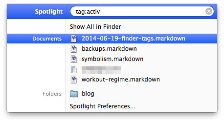 Spotlight tags