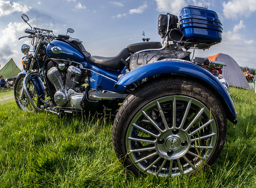 Honda Shadow Trike. A fisheye view.