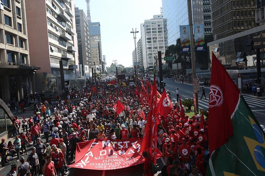 (23)BRASIL-SAO PAULO-MUNDIAL 2014-PROTESTA