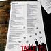 Tallboys Craft Beer House - the menu