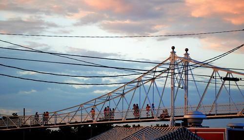 bridge sunset footbridge bridges missouri springfieldmissouri 2014 greenecounty springfieldmo footbridges jeffersonavefootbridge jeffersonavenuefootbridge