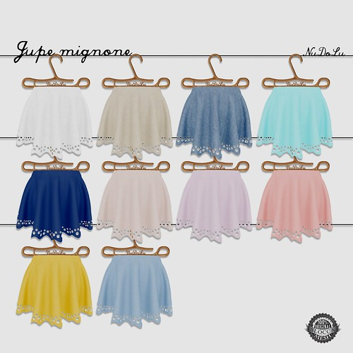 NuDoLu Jupe mignone all colors AD