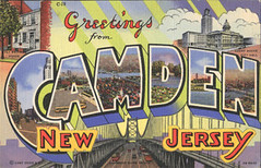 Camden NJ old-fashioned postcard