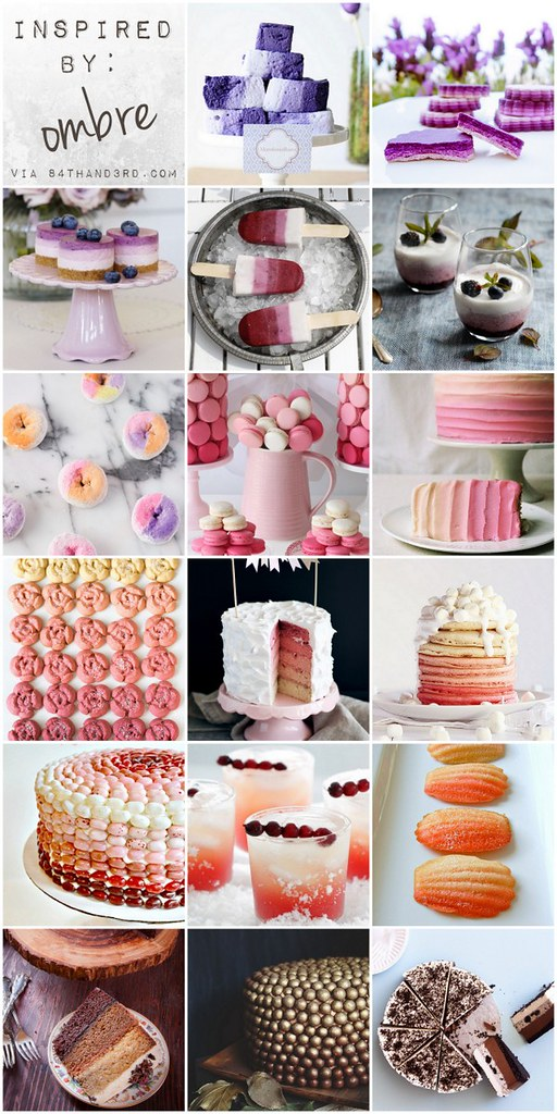 Inspired by Ombre: 17 Gorgeous Ombre Desserts