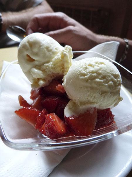 fraises et glace