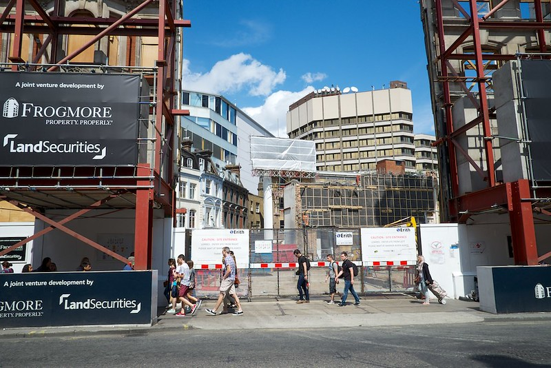 Oxford Street being redeveloped