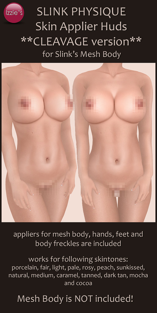 "Slink Physique ""Cleavage"" Skin Appliers"