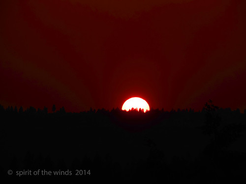 sunsets spokanewashingtonstate