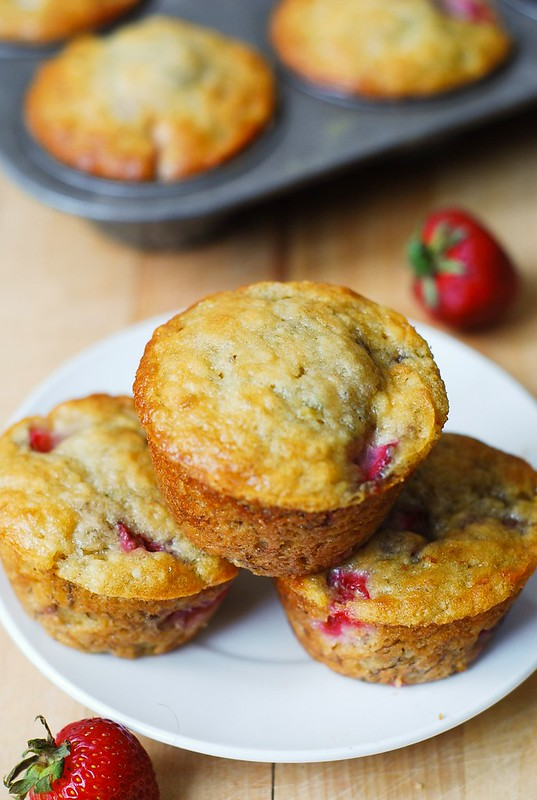 Strawberry banana bread muffins - Julia's Album