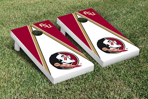 Florida State University FSU Seminoles Cornhole Game Set Triangle