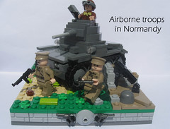 Airborne troops in Normandy (for Best Brickr)