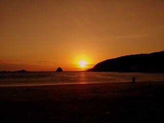 外浦海水浴場からの日の出