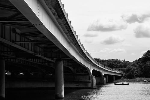 M27 Motorway Bridge Over R.Hamble