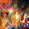 Check out Peter Davison's (5th Doctor) long blond locks on the Doctor Who pinball machine.