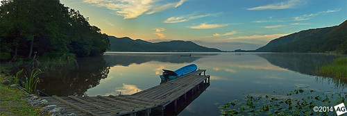 panorama lake sunrise jetty olympus nagano naganoprefecture novoflex kizaki kizakiko omachi olympus1454mmf28 olympuse30