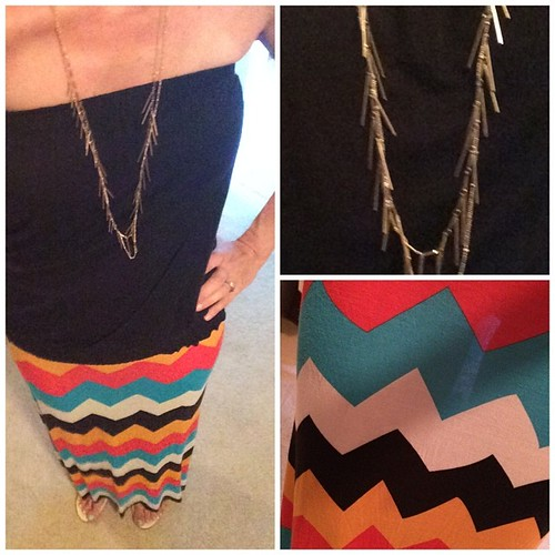 #ootd black shirt #mombomb skirt #junkinthetrunk necklace #nordstrom shoes #nordstrom #instafashion