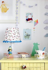 DIY Fabric Covered Lampshade for Craft Cafe
