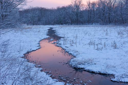 stream sunset color winter cold newengland belmontma canon5dmarkii landscape nature