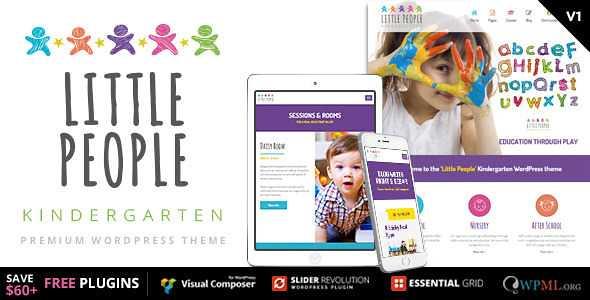 Little People WordPress Theme free download