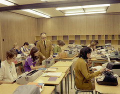 Business machine class, Fort McMurray Vocational School, Fort McMurray, Alberta