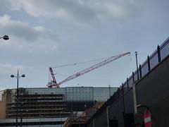 Crane above the ex Pavilions for Primark - Moor Street Queensway