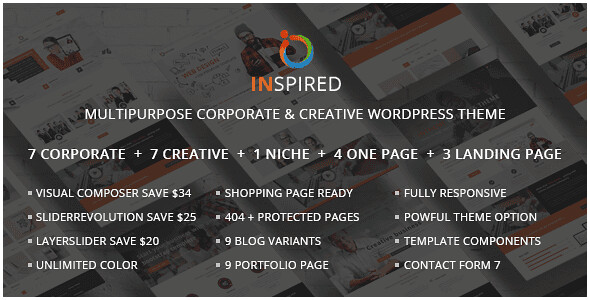 Inspired WordPress Theme free download