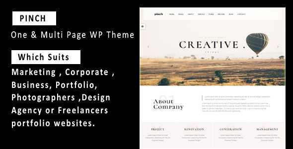 Pinch WordPress Theme free download