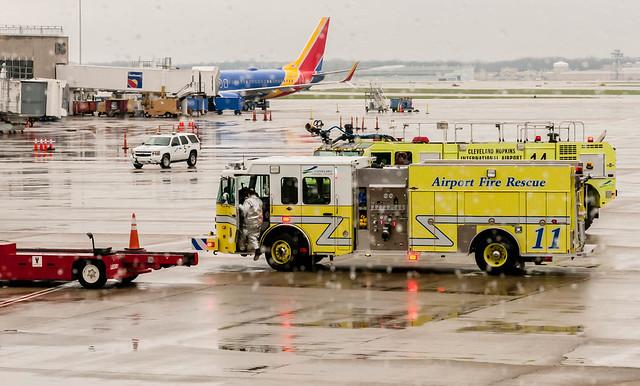 Cleveland Hopkins Airport Crash Rescue
