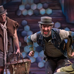 Waiting for Godot - Arvada Center 2017 - Pictured L-R: Josh Robinson (Lucky) and Timothy McCracken (Estragon) Photo Credit: M. Gale Photography 2017