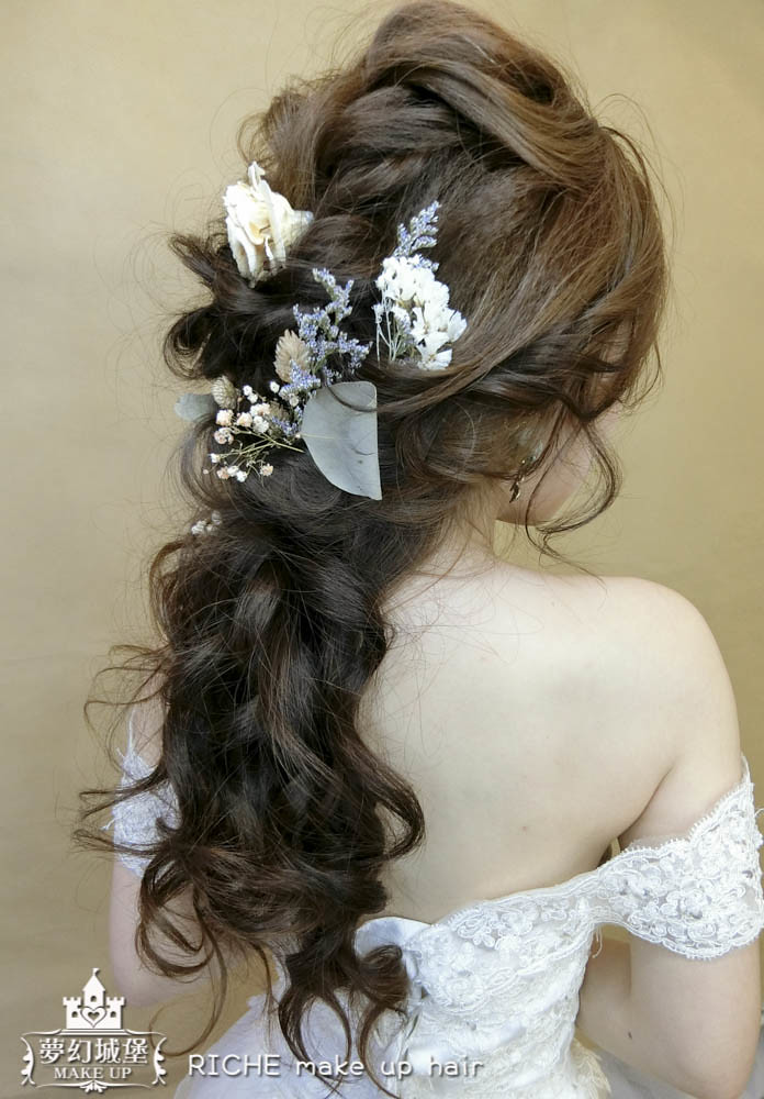 【新秘RICHE】新娘造型創作 / 乾燥花低髮尾