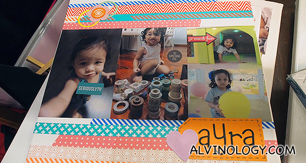 Claudia's canvas for her daughter, Ayra