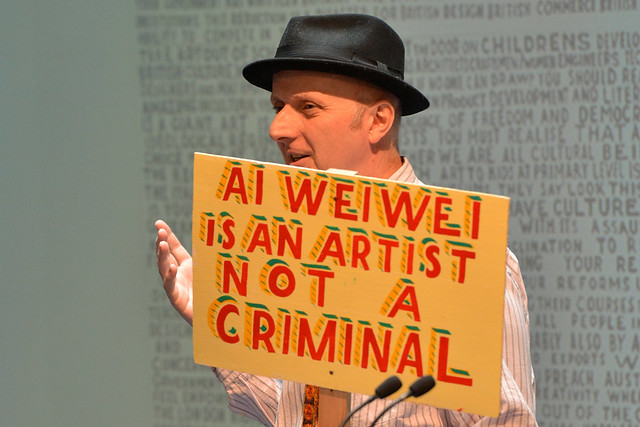 Bob and Roberta Smith speaking at the ROH Bridge Culture Counts conference © ROH / Brian Slater
