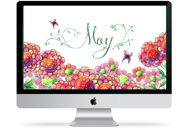 May 2014 Floral Desktop