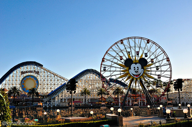 Disneyland Mickey's Fun Wheel and Paradise Pier