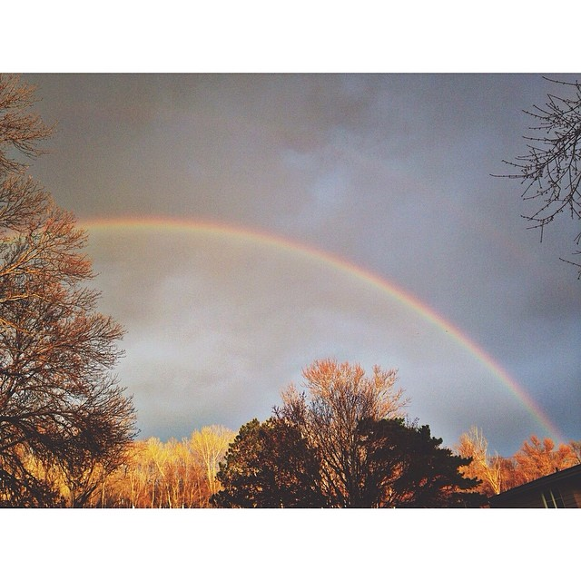 A perfect ending to Easter Sunday #rainbow