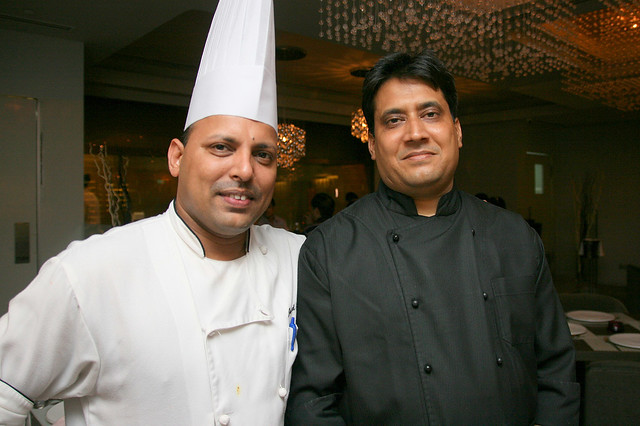 Executive chef Javed Ahamad and guest chef M Rehman