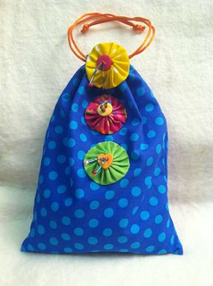 Blue polka-dots goodie bag