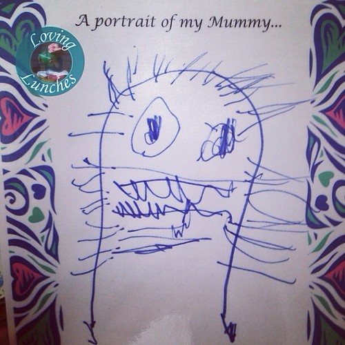 Loving my likeness… thank you Miss M for a lovely #mothersday  #toddlerart