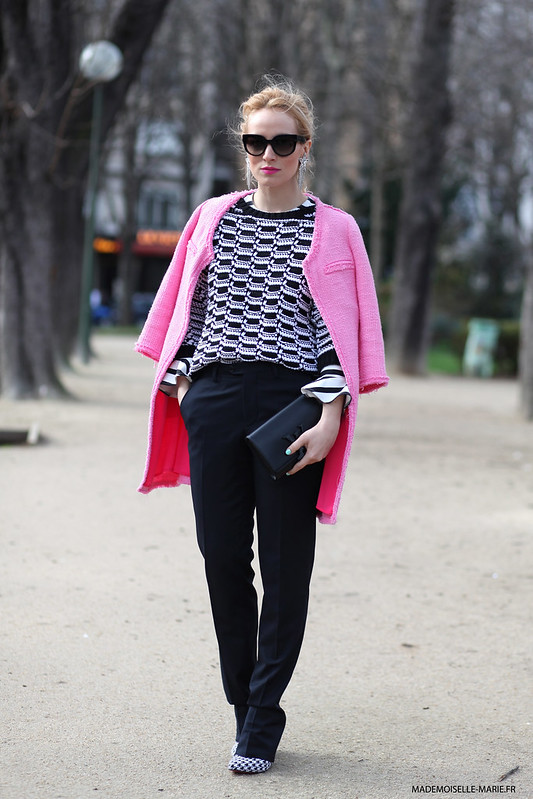 Alina Tanasa at Paris fashion week