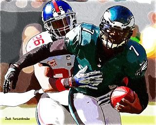 New York Giants Antrel Rolle - Philadelphia Eagles Michael Vick