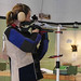 Small photo of Heather shooting air rifle