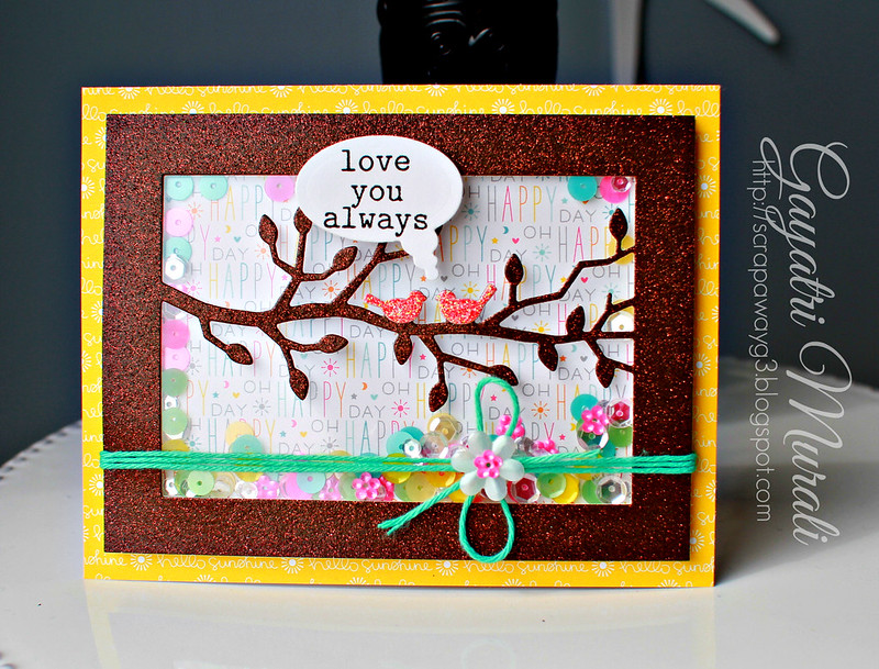 Love you always shaker card 1