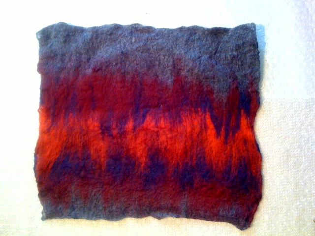 Felting class day 1, photo 2