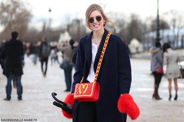 Chiarra Ferragni at Paris fashion week