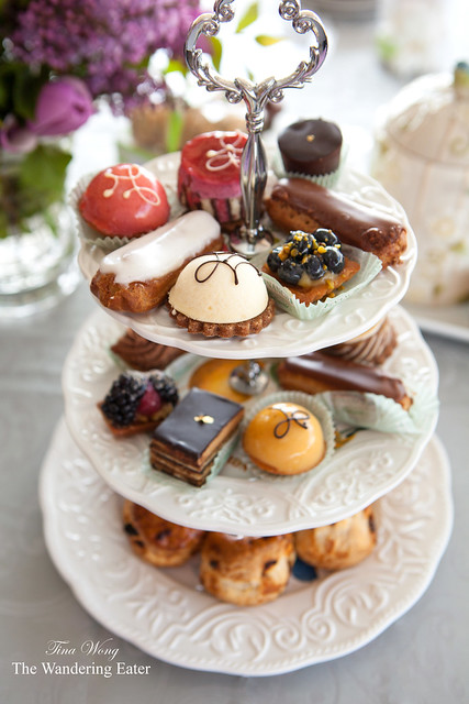Tier of sweets for Mother's Day afternoon tea