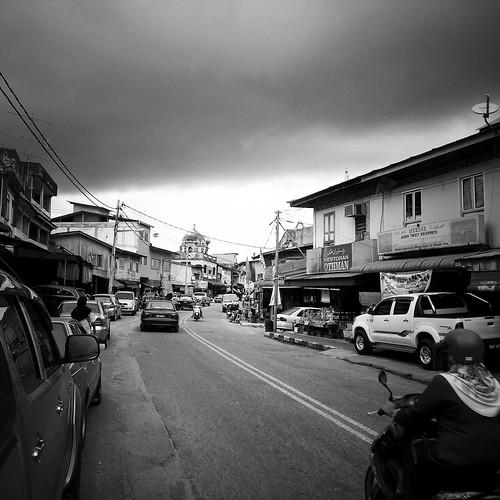 Street in Rantau Panjang, Kelantan.